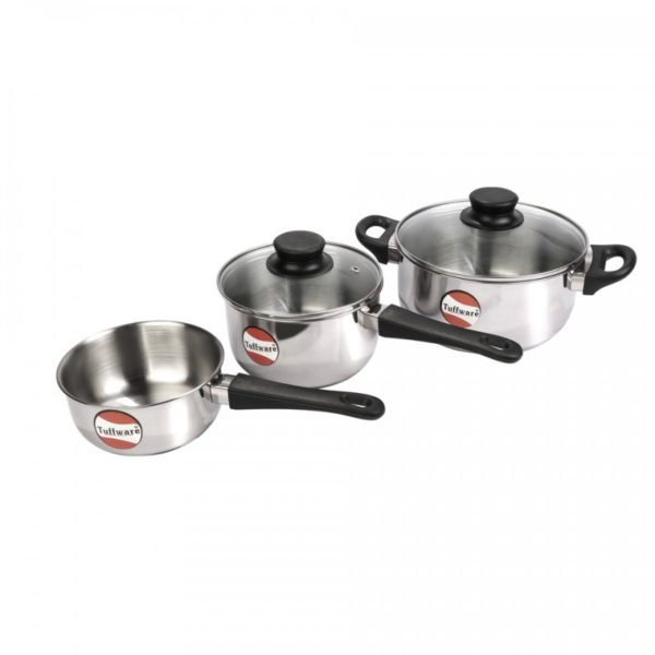 Gift Set 1 - 14cm Saucepan without Lid + 16cm Saucepan with Lid + 20cm Casserole with Lid